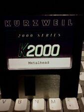 KURZWEIL ~ METALHEAD ~ Floppy Disk K2XXX/K2500/K2600 w/VAST PROGRAMMINGS!!!