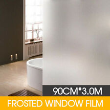 90cm 3m Sand Blast Clear Privacy Frosted Frosting Window Glass Film Removable