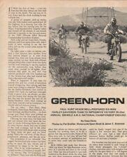1969 Greenhorn Harley Enduro Motorcycle Race - 3-Page Vintage Article