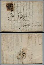 PONTIFICIO - 3 bai(4) BDF - Lettera Ancona->Gualdo Tadino 9.3.1857