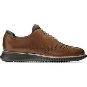 Cole Haan Mens 2.ZEROGRAND Brown Leather Oxfords Shoes 12 Medium (D) BHFO 3428