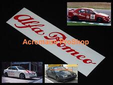 """2x 6"""" 15.2cm Alfa Romeo script Decal Sticker Brera GTA GTV Spider Giulia 4C Mito"""