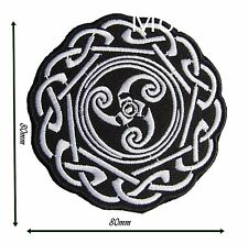 Patch Celtic Embroidered Iron Badge Sew Pagan Wiccan Witch Knot Biker Viking 105