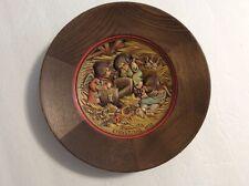 1972 Anri Wooden Collector Plate By Ferrandiz For Xmas
