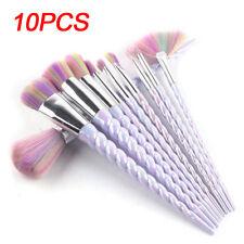 10PCS Unicorn Roses Spiral Make Up Brushes Set Face Foundation Powder Blusher UK