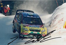 Jari Matti Latvala Hand Signed 12x8 Photo Ford Abu Dhabi Rally 14.