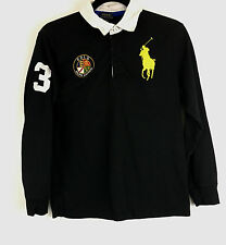 Vintage Polo Ralph Lauren Big Pony Rugby Shirt PATCH Sewn Mens (14-16) Youth L