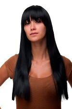 Perruque Femmes pour Noir Profond Frange Lisse Long 60 Cm GFW373-1