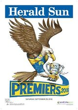 2018 Original Herald West Coast Eagles Knight Premiers Poster Premiership