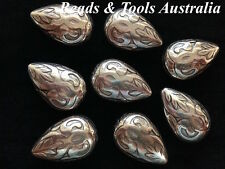 5pc x Puffed Teardrop Beads - Plastic Feature Beads - BEADS & TOOLS