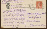 1911 CP PAQUEBOT/LOUQSOR, grand cachet bleu des Messagerie Maritimes X3875