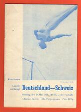Orig.PRG   Gymnastic Event   SWITZERLAND - GERMANY 1951  !!  RARITY