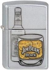 Briquet zippo Jim Beam bottle with Glass avec emblème whisky nouveau OVP