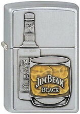 ZIPPO Feuerzeug JIM BEAM BOTTLE with GLASS mit Emblem Whiskey NEU OVP