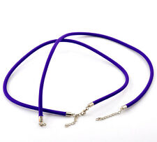1x Nylon Halskette Halsschmuck Necklace 47 cm lila