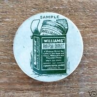 2 Original Vintage WILLIAMS' ANTI PAIN Empty Ointment Salve RX Pill Tin 1900s