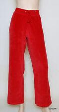NEW RAFAELLA VELOUR LOUNGE PANTS SWEATS~ RED *M/P
