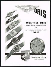 1940's Vintage 1945 Oris & Novoris Wrist Watch Mid Century Modern Art Print AD