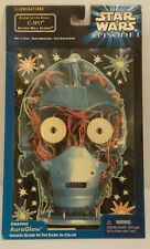 "STAR WARS EPISODE 1 - ""C-3PO"" GLOW-IN-THE-DARK ACTION WALL SCENE -AuraGlow -MIP"