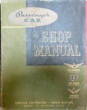 1955 PLYMOUTH P26-27 DE SOTO SP26-27 DODGE D54-59 SHOP MANUAL BELVEDERE SAVOY