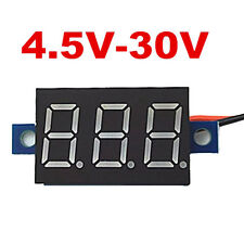 Mini DC 4.5-30V Voltmeter LED Panel 3-Digital Display Voltage Meter 2-wire