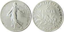III° RÉPUBLIQUE  ,    2  FRANCS  ARGENT     ,  1908