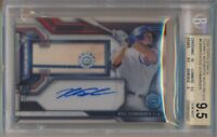 2016 Topps Strata Kyle Schwarber Clearly Authentic Auto Relics BGS 9.5 Auto 10