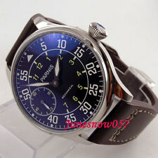 Classic 44mm Parnis watch luminous mechanical 6497 hand-winding men's watch
