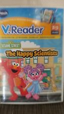 vtech V.Reader E-READING SYSTEM SESAME STREET The Happy Scientists Game