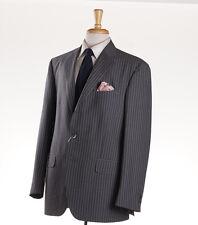 New $1695 BOGLIOLI Medium Gray Stripe Wool Suit Slim-Fit 46 R (Eu 56)