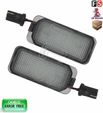 2X FORD OEM FIT LICENSE NUMBER PLATE LIGHTS LED WHITE 18SMD CANBUS ERROR FREE