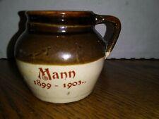Small Handmade Mann Pottery Handle Jug Vase