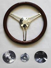 "64-66 Chevy II 2 Nova Impala Mahogany Grip Billet Steering Wheel 14 3/4"" Bowtie"