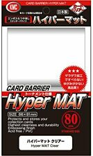 KMC Card Barrier Sleeves Hyper Mat Clear 80 Pack Tounament specification F/S