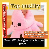 Reversible Plush Toys Double-sided Happy Sad Emotions stuffed Kids Toy Gift