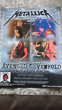 METALLICA WORLDWIRED TOUR 2017 DALLAS TEXAS PROMO POSTER AVENGED SEVENFOLD