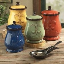 Tuscan Canisters French Country Kitchen Decor Tuscany Canister Sets For Counter