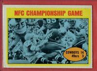 1972 Topps  # 138 Cowboys / 49ers NFC Championship Game -- Box 724-314