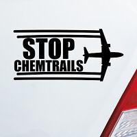 Auto Aufkleber STOP CHEMTRAILS Flugzeug Flieger Sticker Fun Protest 1015