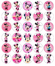 Minnie Mouse x 30 Cupcake Toppers Edible Wafer Paper Fairy Cake Toppers