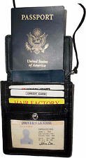 New Black Leather passport case wallet Card case ID Holder BNWT Lowest Price