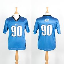 MENS REEBOK DETROIT LIONS NFL JERSEY AMERICAN FOOTBALL SHIRT #90 SUH SMALL S