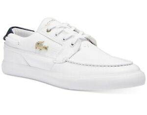 Lacoste Men's Bayliss White Leather Deck Casual Sneakers Shoes Sz 11.5 NIB