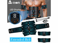 EMS Abdominal Muscle Training Gear Stimulator Toning ABS Fitness Workout Belt