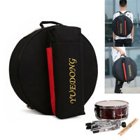 14'' Padded Snare Drum Bag Soft Case Cover Protector 15mm Cotton for Drum Parts
