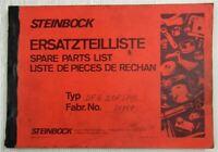 Steinbock DFG 3,0F Stapler Ersatzteilliste Parts list aus den 1970/80er Jahren