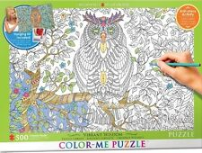 Jigsaw Puzzle Color Me Owl 500 pieces NEW Paint it Yourself Stress Relief