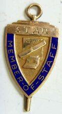 1953-54 vintage nice gold filled star member of staff pendant fob retro 49807