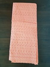 NEW Peach 100% Cotton Dot Anglaise Punch Hole Fashion Fabric Dry Lace Dress
