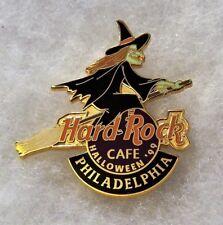 HARD ROCK CAFE PHILADELPHIA GREEN WITCH IN BLACK FLYING ON BROOM LOGO PIN # 7417